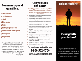 College gambling prevention brochures wikipedia james bond casino royale